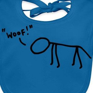 Woofing Dog (vector) Kids' Shirts - Baby Organic Bib