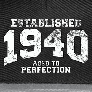 established 1940 - aged to perfection (pl) Koszulki - Czapka typu snapback