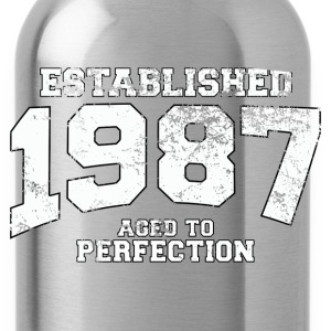 Geburtstag - established 1987 - aged to perfection - Trinkflasche