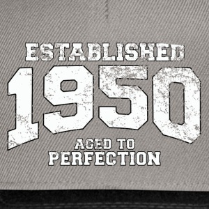 Geburtstag - established 1950 - aged to perfection - Snapback Cap