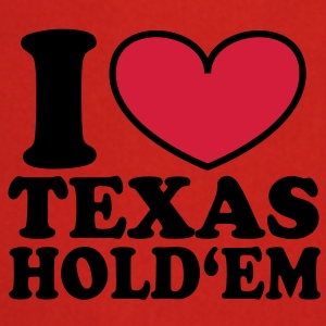 I love Texas Hold'em Bags  - Cooking Apron