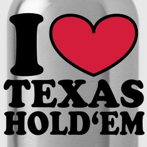 I love Texas Hold'em Bags  - Water Bottle