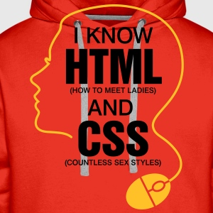 I Know Html 3 (2c)++ Barneskjorter - Premium hettegenser for menn