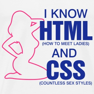 I Know Html 2 (2c)++ Gensere - Premium T-skjorte for menn