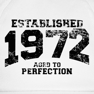 Geburtstag - established 1972 - aged to perfection - Baseballkappe