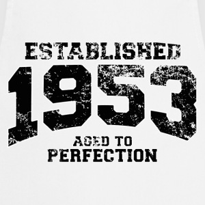 established 1953 - aged to perfection(fr) Tee shirts - Tablier de cuisine