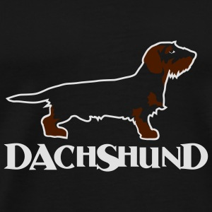 dachshund bag - Premium T-skjorte for menn