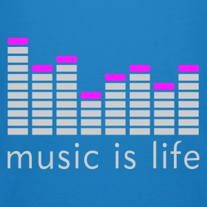 Music is life Equalizer / Music is life equaliser Bags  - Men's Organic T-shirt
