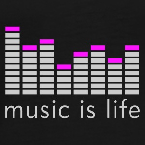 Music is life Equalizer / Music is life equaliser Sacs - T-shirt Premium Homme
