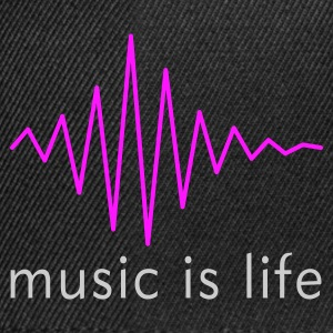 Music is life Pulse / Music is life soundwave Bags  - Snapback Cap