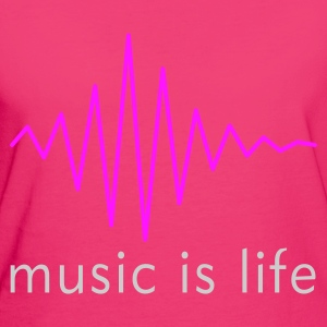 Music is life Pulse / Music is life soundwave Bags  - Women's Organic T-shirt