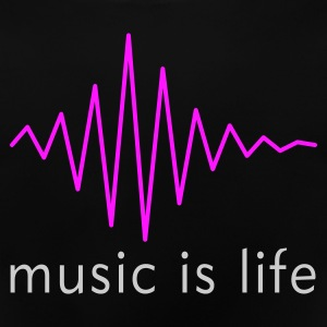 Music is life Pulse / Music is life soundwave Barnegensere - Baby-T-skjorte