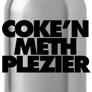 Coke'n meth plezier T-shirts - Drinkfles