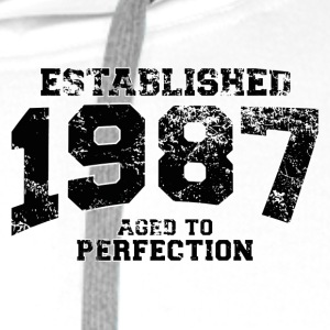 established 1987 - aged to perfection(uk) Polo Shirts - Men's Premium Hoodie