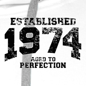established 1974 - aged to perfection(uk) Polo Shirts - Men's Premium Hoodie