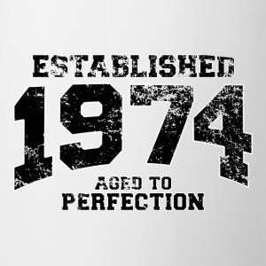 established 1974 - aged to perfection(uk) Polo Shirts - Mug
