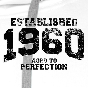 established 1960 - aged to perfection(fr) Polos - Sweat-shirt à capuche Premium pour hommes