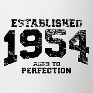 established 1954 - aged to perfection(uk) Polo Shirts - Mug