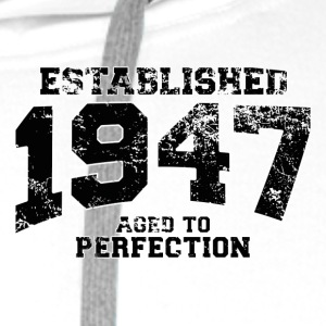established 1947 - aged to perfection (uk) Polo Shirts - Men's Premium Hoodie