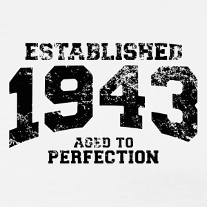 established 1943 - aged to perfection (dk) Poloshirts - Herre premium T-shirt
