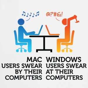 Mac Users 1 (dd)++ T-shirts - Keukenschort