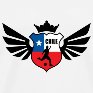 Chile soccer emblem flag baseball cap - Men's Premium T-Shirt