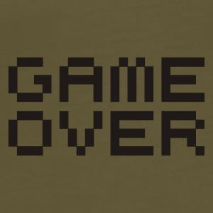 Game over / game over pixels Bags  - Men's Premium T-Shirt