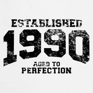 established 1990 - aged to perfection(fr) Tee shirts manches longues - Tablier de cuisine