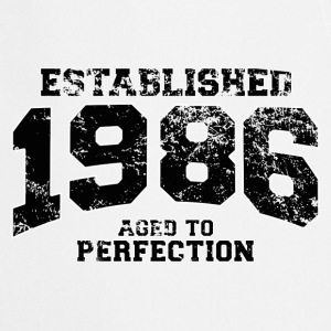 established 1986 - aged to perfection(fr) Tee shirts manches longues - Tablier de cuisine