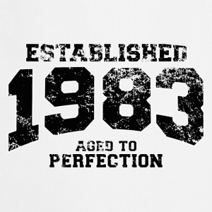 established 1983 - aged to perfection(fr) Tee shirts manches longues - Tablier de cuisine