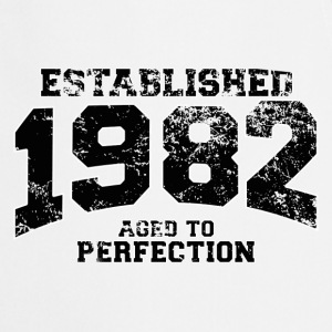 established 1982 - aged to perfection(fr) Tee shirts manches longues - Tablier de cuisine