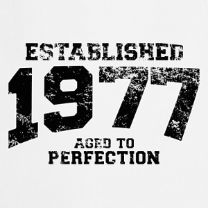 established 1977 - aged to perfection(fr) Tee shirts manches longues - Tablier de cuisine