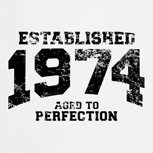 established 1974 - aged to perfection(fr) Tee shirts manches longues - Tablier de cuisine