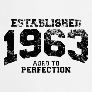 established 1963 - aged to perfection(fr) Tee shirts manches longues - Tablier de cuisine