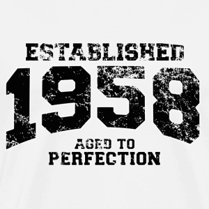 established 1958 - aged to perfection(nl) Shirts met lange mouwen - Mannen Premium T-shirt