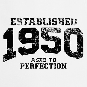 established 1950 - aged to perfection(fr) Tee shirts manches longues - Tablier de cuisine