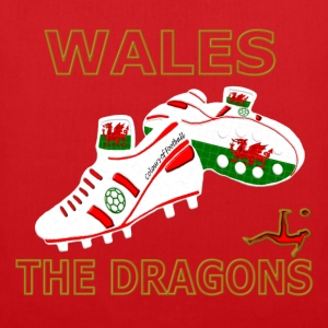 wales football boots white red gold Kids' Shirts - Tote Bag
