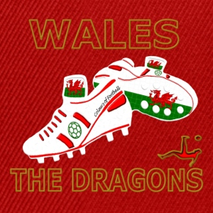 wales football boots white red gold Kids' Shirts - Snapback Cap