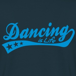 dancing is life - retro Sweat-shirts - T-shirt Homme