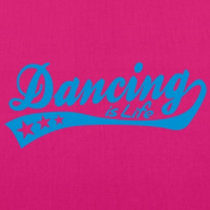 dancing is life - retro Poloshirts - Bio-Stoffbeutel