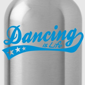 dancing is life - retro Kids' Shirts - Water Bottle