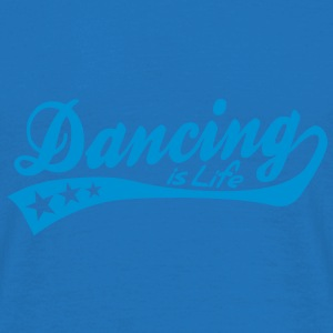 dancing is life - retro Paraply - T-shirt herr