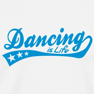 dancing is life - retro Mokken - Mannen Premium T-shirt