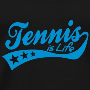 tennis is life - retro Tassen - Mannen Premium T-shirt