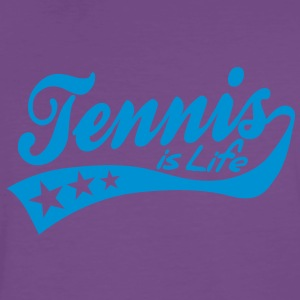 tennis is life - retro Sweaters - Mannen Premium T-shirt