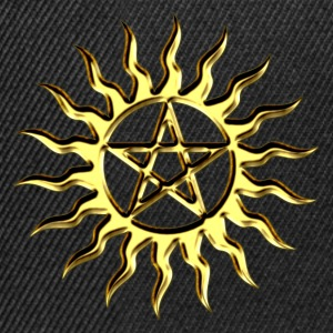Pentagram - Blazing Star- Sign of intellectual omnipotence and autocracy. digital gold, Star of the Magi , powerful symbol of protection T-shirts - Snapback cap