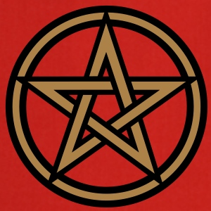 Pentagram amulet- Sign of intellectual omnipotence and autocracy. 2c, Star of the Magi , powerful symbol of protection Camisetas - Delantal de cocina