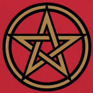 Pentagram amulet- Sign of intellectual omnipotence and autocracy. 2c, Star of the Magi , powerful symbol of protection T-shirts - Retro-tas