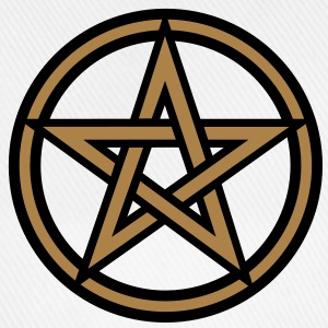 Pentagram amulet- Sign of intellectual omnipotence and autocracy. 2c, Star of the Magi , powerful symbol of protection Långärmade T-shirts - Basebollkeps