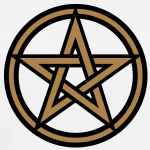 Pentagram amulet- Sign of intellectual omnipotence and autocracy. 2c, Star of the Magi , powerful symbol of protection Shirts met lange mouwen - Mannen Premium T-shirt